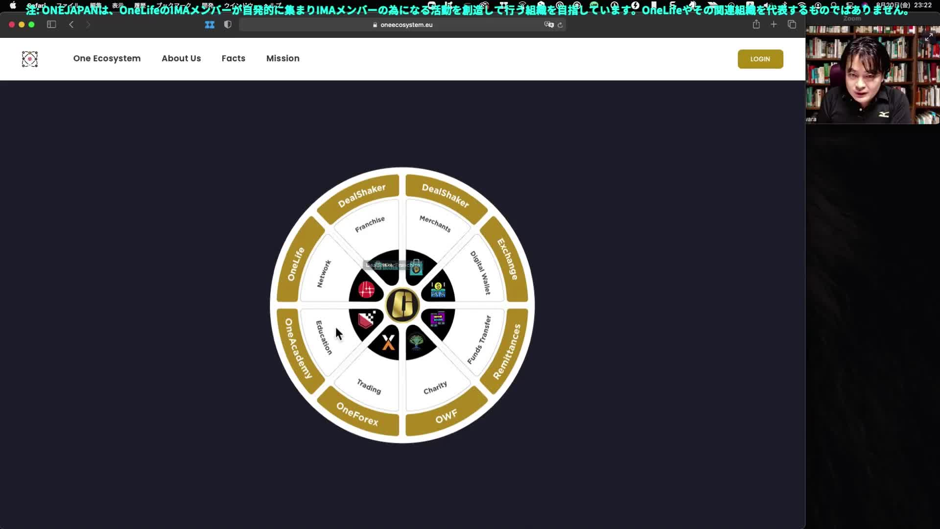 ONEJAPAN週間報告会(前半)2021年8月21日、10:15